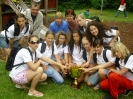 Volejbalové žákyně vítězné v Trentu